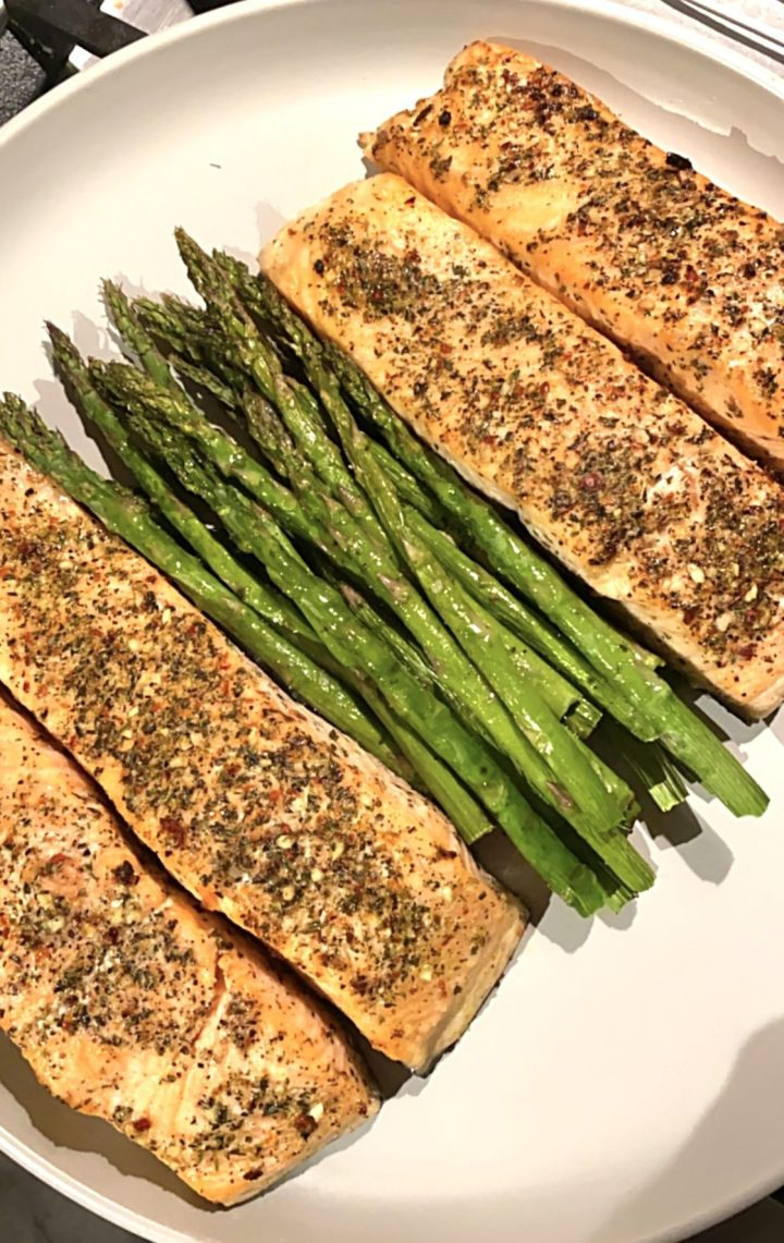 Midweek grilled salmon