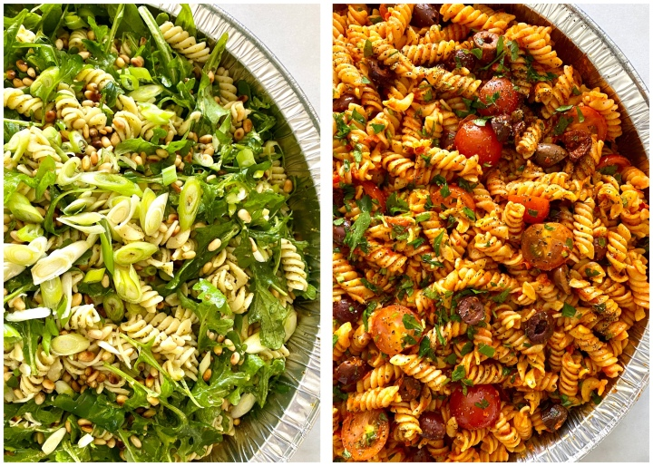 Pasta salad two ways